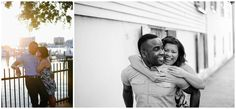 Downtown Norfolk Engagement Session by the Harbor | Black & White Portrait | Virginia Wedding Photographers | Rowlands Photography