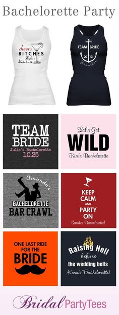 7 Creative Ideas for Bachelorette Party Shirts -- I'm just throwing out ideas for my friends | http://party-ideas-collections.lemoncoin.org