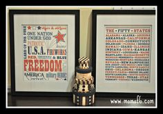 The Top 10 Free July 4th Subway Art Printables