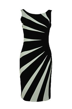 Black & White Sunburst Dress | Joseph Ribkoff 2015 Collection.
