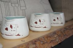 Cow Creamers handmade by Laura Cooke