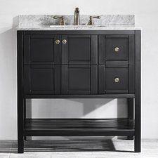 Beachcrest Home Caldwell Single Bathroom Vanity Set 42 Inch Bathroom Vanity, 36 Vanity, Toilet Vanity, Mirror Vanity, Msv, Bath Vanities, Single Vanities, Sinks, Bathroom Fixtures