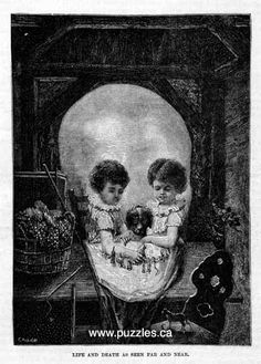 Life and Death Skull optical illusion