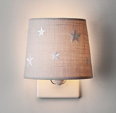 Embroidered Star Nightlight Bleached