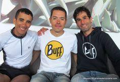Transgrancanaria 83k 2014: Foto de equipo con Buff, con Zaid Ait Malek (3º) con Pau Bartolo (1º) y Gerard Morales (4º).