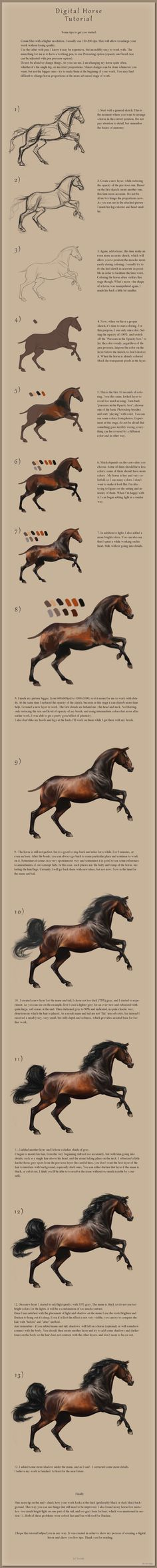 Digital Horse Tutorial by Yaveth.deviantart.com on @deviantART