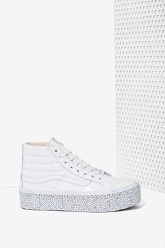 Nasty Gal x Vans | Step Up Sk8-Hi Leather Platform Sneaker #NastyGal #sneakers