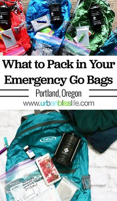 Be Prepared For A Natural Disaster By Having Stocked Emergency Go Bags For Each Family Member Check Out This Free What To Pack In An Emergency Go Bag Checklist, Also Available As A Free Printable Pdf, On Emergency Go Bag, Emergency Backpack, Emergency Preparedness Kit, Family Emergency, Emergency Preparation, Survival Prepping, Survival Skills, Survival Gear, Zombies Survival
