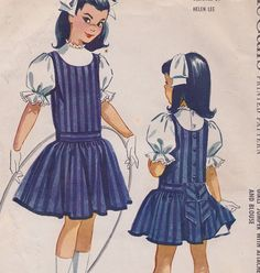 50s Helen Lee Girls Jumper with Attached Petticoat by RoxyLynn2