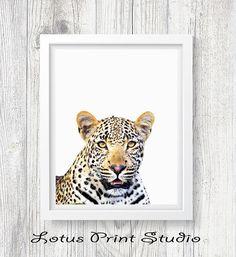 Leopard Print Leopard Wall Art Print Boys Room Decor Safari