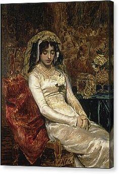 Before The Wedding Canvas Print by Munoz Degrain Antonio