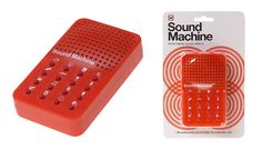 You probably didn't know that you needed a sound effects machine in your life, but take it from us, you do.  Whether you use it to sprinkle your conversations with a burst of canned laughter or a wa-wa-wa-waaaahh, you'll wonder how you managed without a push-button wolf-whistle, a raspberry, or a fanfare on demand.