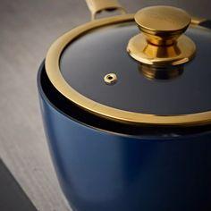 Buy Tower 5 Piece Ceramic Non Stick Pan Set - Blue and Gold   Pan sets   Argos Black Toaster, Ceramic Non Stick, Pan Set, Non Stick Pan, Argos, Healthy Cooking, Flask, Barware, Dishwasher
