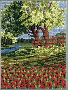 Spring Poppies Tapestry Kit 1403 **SALE**