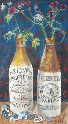 Still Life with Ginger Beer Print by Emily Sutton Illustrations, Illustration Art, Collages, Still Life Art, Ginger Beer, High Art, Art For Art Sake, Painting & Drawing, Contemporary Art