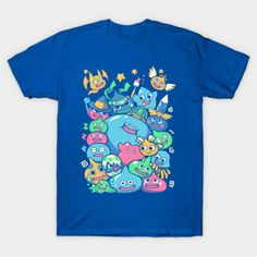 Dragon Quest: Various Slimes / Nintendo: #Pokemon: Ditto t-shirt.