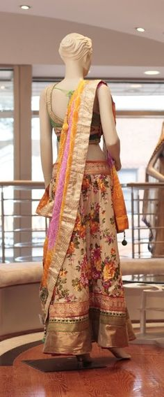 IEmbroidery: Thread work  Fabric: Chanderi Silk