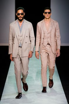 Spring 2014 Menswear Trends - Giorgio Armani. Spring  Spring trends in Menswear are definitely hot. SCLStyle.com Writer Tess delivers the scoop in today's post: