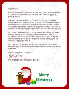 printable santa letters - clause and reindeer _ #Letters to Santa Printable