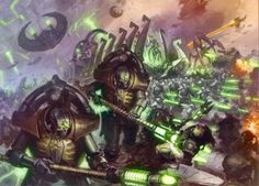 The Triarch Praetorians are a specialised caste of Necrons who serve as the judges and enforcers of ancient Necrontyr law. They are tasked with ensuring that every Necron dynasty upholds the terms of the ancient codes of law of the Necrontyr Empire to ensure that they are never forgotten nor ignored.