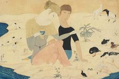 View auction results for Impressionist/Modern Works on Paper, Christie's London, Filter for featured artists, price, media and more. Modern Words, Culture Art, Picture Boxes, Lots Of Cats, Japanese Painting, Young Couples, Illustrations, Beautiful Paintings, Art