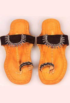 Lambani Soles Kolhapuri footwear for women   Kolhapuri Ethnic Footwear   Tijori