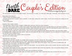 Truth or Dare Couple's Naughty Game Perfect for Date image 6 Love Games For Couples, Dares For Couples, Couple Games, Couples Quiz, Valentines Games For Couples, Couple Ideas, Date Night Games, Couples Game Night, Night Couple