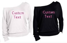2e8d15deb Custom Shirt, Custom Long Sleeve Shirt, Off The Shoulder Shirt, Bride Shirt,  Bridesmaid Shirt, Bride Sweatshirt, Personalized Shirt, Custom