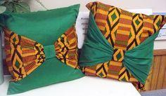 ... Kwanzaa Sale reg 35 - Kente Bow Mandara Mountains Throw Pillows Decorative Cushions African American.