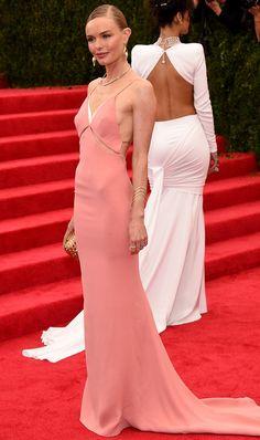 Kate Bosworth dons a beautiful, pink Stella McCartney creation.