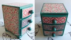 jewellery box/wooden mini chest of drawers/jewelry box