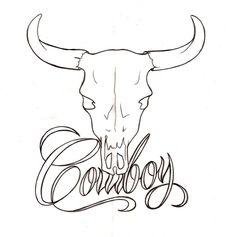 Cowboy Bull Skull Tattoo by ~Metacharis on deviantART