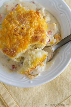 Creamy Chicken and Biscuits.
