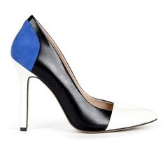 Blue, White & Black Heel - Find 150+ Top Online Shoe Stores via http://AmericasMall.com/categories/shoes.html