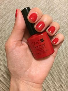 CND Shellac Wildfire What a gorgeous color!