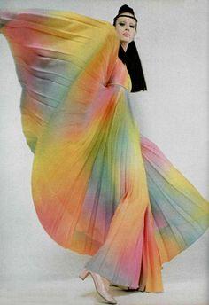 1960's rainbow dress
