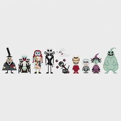 The Nightmare Before Christmas Cross Stitch Pattern PDF Instant Download