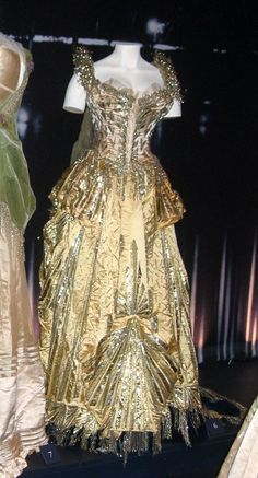 Worn at the 1883 fancy dress ball thrown by Alva Vanderbilt (mother of the famously beautiful, and tragic, Consuelo Vanderbilt) as an excuse to get The Mrs Astor to recognise her and allow the Vanderbilts entrance to the upper echelon of New York society. The ball involved 1200 guests and reportedly cost 3 million dollars.