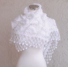 White Bridal ShawlBridal Shrug Crochet Shawl Bridal Bolero