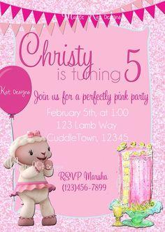 Lambie+Invitation++Doc+McStuffins++Pink+by+MatteKatDesigns+on+Etsy,+$8.00