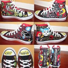 Shoes from the Killjoys(My Chemical Romance).Those are cool!!