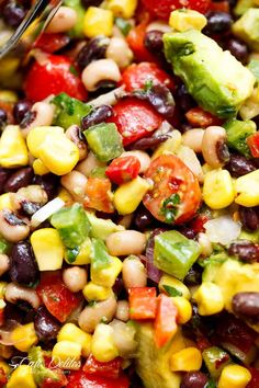 Chili Lime Texas Caviar (also known as Cowboy Caviar) is the BEST salad, side dish or appetiser for any occasion!Vegan AND gluten free!