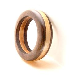 Handmade Wood Bangle Bracelet Walnut Wood and by rparishwoodworks, $29.99