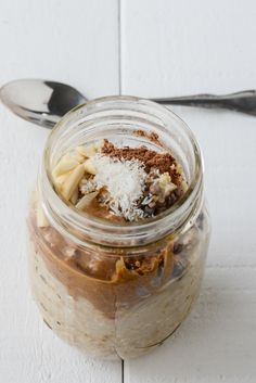 Almond Coconut Cocoa Overnight Steel Cut Oats