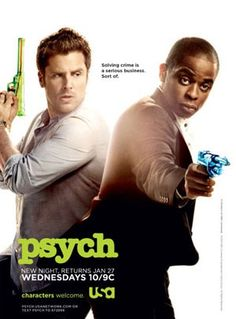 psych solving crime is serious business. Sort of