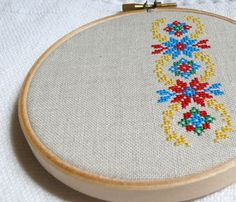 Ukrainian ornament hand embroidery cross stitch in by skrynka