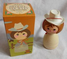 Vintage Avon Small World Cowgirl Original Box Cream Lotion #Avon