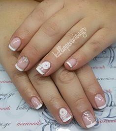 #nails #nailart #frenchnails #3dflowers #beautymakesyouhappy