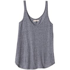 Rebecca Taylor Everyday Tank (46 CAD) ❤ liked on Polyvore featuring tops, shirts, tank tops, tanks, heather grey, loose shirts, scoop neck tank, scoop neck tank top, polyester shirt and heather gray shirt