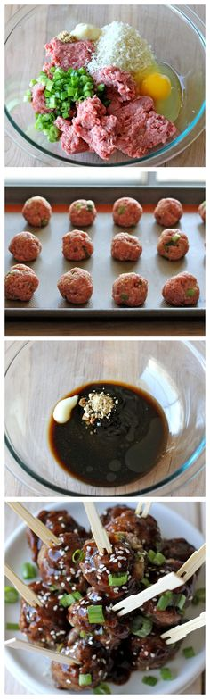 Hoisin Asian Meatballs - These juicy, tender meatballs are smothered with a sweet Hoisin glaze! Love love love Asian food!!